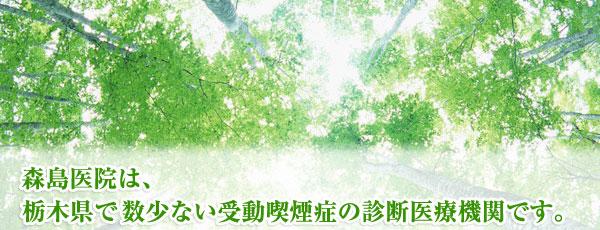 森島医院は、栃木県で数少ない受動喫煙症の診断医療機関です